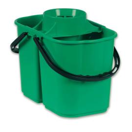 Seau bi-bac PLP 8L + 6L avec essoreur vert photo du produit