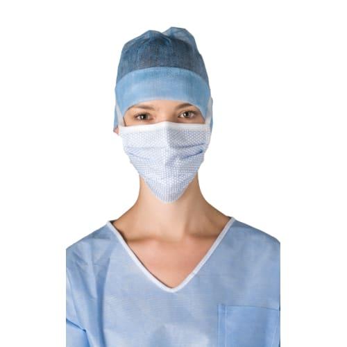 Masque médical Op-Air One Splash type IIR bleu àlanières photo du produit
