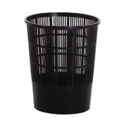 Corbeille papier ajourée plastique 50L noir photo du produit