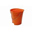 Seau gradué alimentaire PLP 12L orange photo du produit