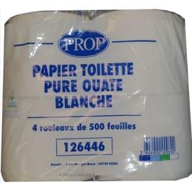 Papier toilette petit rouleau blanc 2 plis 500 feuilles 9,6 x 11 cm certifié Ecolabel photo du produit