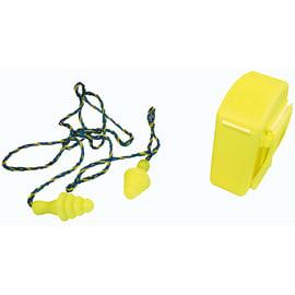 Bouchons d oreilles réutilisables BUP avec cordon élastomère jaune SNR 30 photo du produit