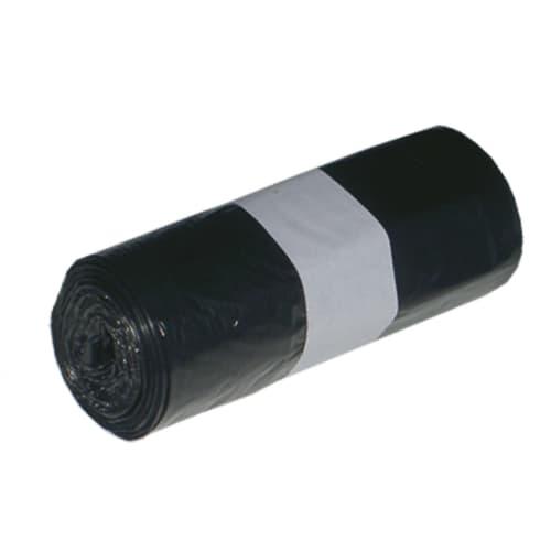 Sac plastique PE HD 30L noir 14µm NF photo du produit