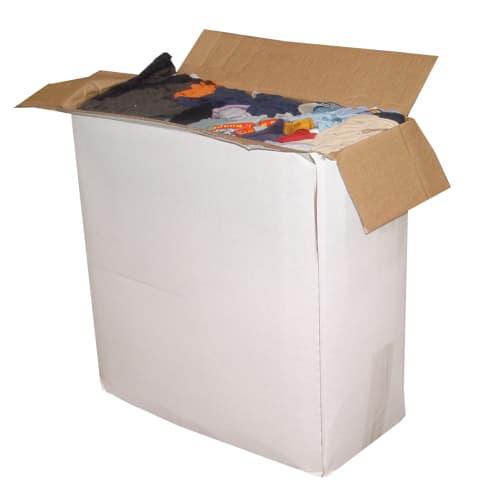 Essuyage issu du recyclage textile chemises demi clair photo du produit