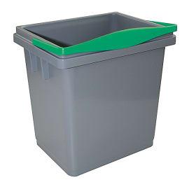 Seau PLP 4L gris anse vert photo du produit