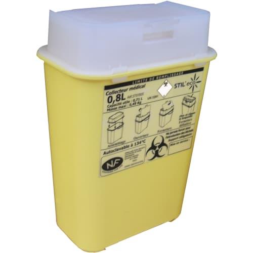 Collecteur boîte à aiguilles DASRI 0,8L Essentia NF X photo du produit