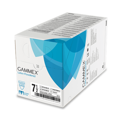 Gant à usage unique chirurgie stérile Gammex latex blanc poudré taille 8 photo du produit Back View L