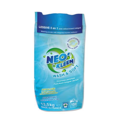 Neo Kleen Wash and Soft lessive poudre 3-en-1 sac de 13,5kg photo du produit