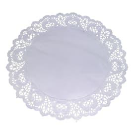 Set de table papier rond Ø28cm blanc photo du produit