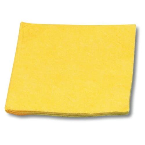 Essuyage non-tissé lavettes jaunes 32 x 38 cm photo du produit