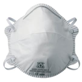 Masque de protection anti-poussières FFP2 NR D forme coque sans soupape photo du produit