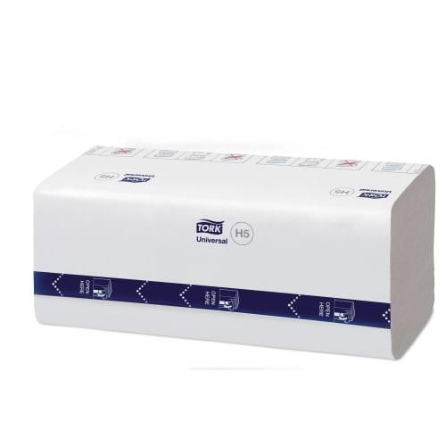 Essuie-mains plié blanc TAD 1 pli 22,5 x 20,1 cm certifié Ecolabel photo du produit Side View L