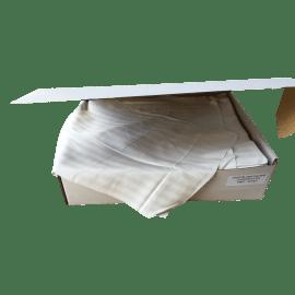 Chiffon coton draps blanc 40 x 50 cm mis à plat photo du produit