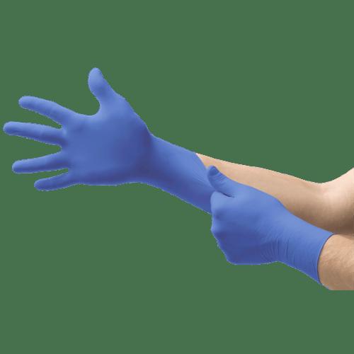 Gant de protection chimique nitrile Edge 82-133 non poudré bleu taille L photo du produit
