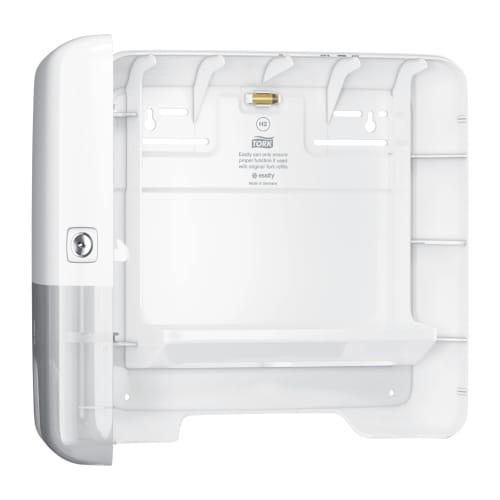 Distributeur d essuie-mains pliés blanc H2 mini photo du produit Back View L