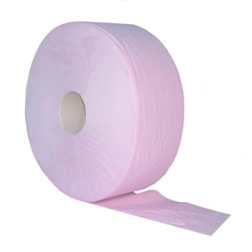 Papier toilette rouleau géant rose 1 pli crêpé 600m continu certifié Ecolabel photo du produit