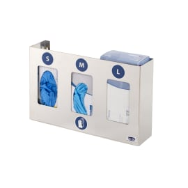 Distributeur inox pour 3 boîtes de gants ou de mouchoirs photo du produit