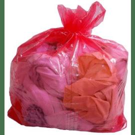 Sac plastique à ouverture soluble 710 x 760 mm rouge 30µm photo du produit