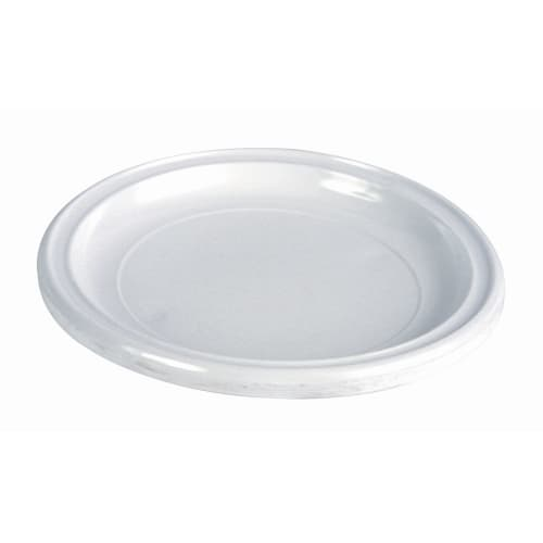 Assiette plastique ronde Ø180mm blanc photo du produit