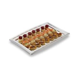 Plateau buffet plastique 460 x 305mm argent photo du produit