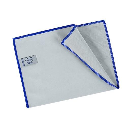 Essuyage microfibre Mini 260 gris surjet bleu 23 x 35 cm photo du produit