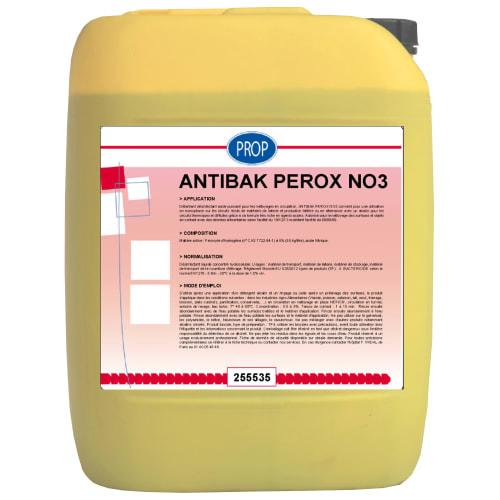 PROP Antibak Perox NO3 détartrant détergent désinfectant acide bidon de 22kg photo du produit