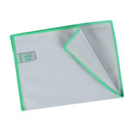Essuyage microfibre Mini 260 gris surjet vert 23 x 35 cm photo du produit