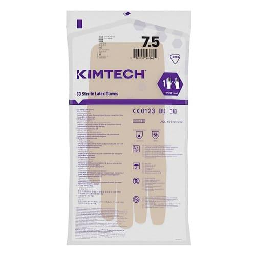 Gant de protection chimique latex stérile Kimtech Pure G3 30cm taille 7,5 photo du produit Side View L