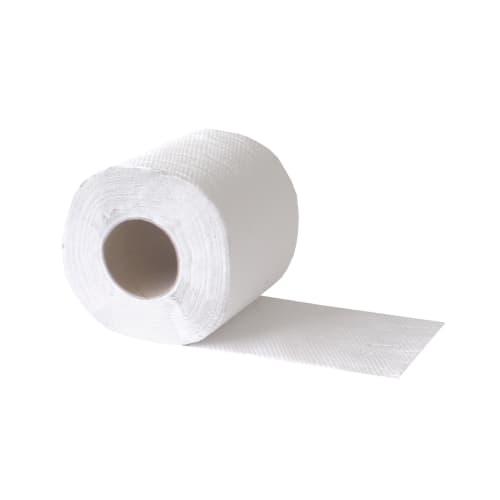 Papier toilette petit rouleau blanc crêpé 1 pli 400 feuilles 9,6 x 11 cm photo du produit
