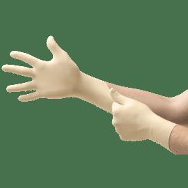 Gant de protection chimique latex Micro-Touch Coated blanc non poudré taille M photo du produit