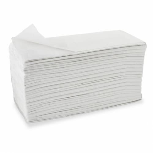Essuie-mains plié V ouate blanche 2 plis 22,4 x 23 cm certifié Ecolabel photo du produit
