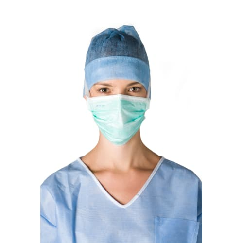 Masque médical Op-Air One type II vert à lanières photo du produit