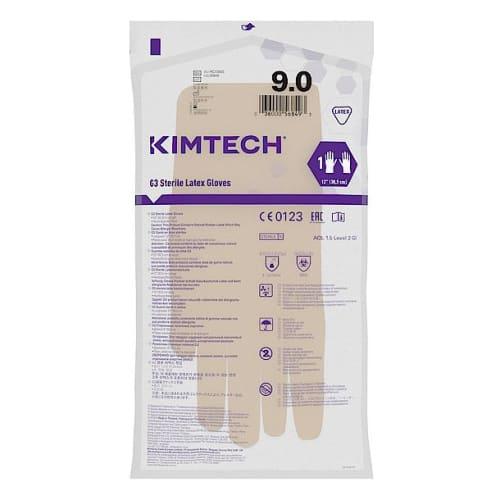 Gant de protection chimique latex stérile Kimtech Pure G3 30cm taille 9 photo du produit Side View L