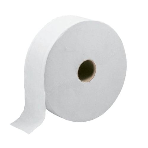 Papier toilette rouleau géant blanc 1 pli assoupli 640m continu photo du produit