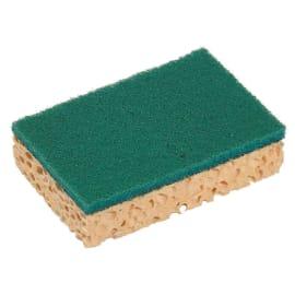 Tampon abrasif vert sur éponge petit modèle 11 x 7 x 2,4 cm photo du produit
