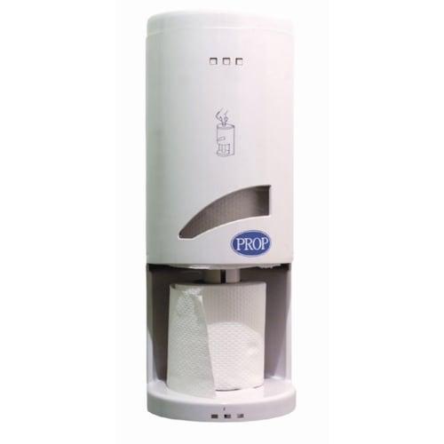 Distributeur Toilet 3 blanc pour papiers toilette 3 mini rouleaux avec serrure photo du produit