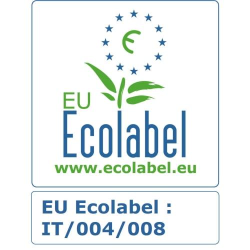 Papier toilette petit rouleau blanc 3 plis 330 formats 9,5 x 12,5 cm certifié Ecolabel photo du produit Back View L