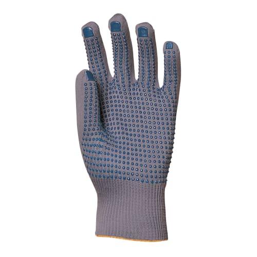 Gant de manutention nylon gris picots bleus sur paume taille 7/8 photo du produit