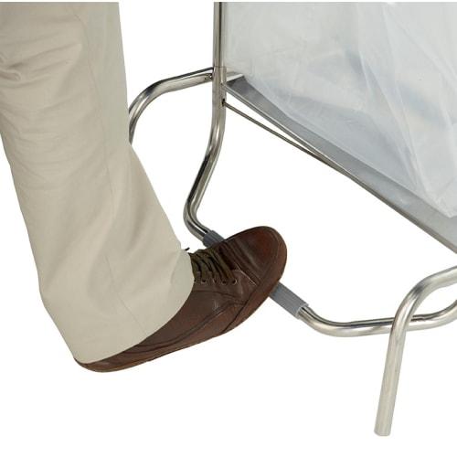 Support sac mobile inox à clapet 110L photo du produit Side View L