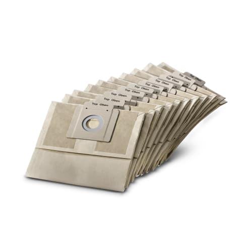 Sac filtrant papier pour monobrosses et aspirateur dorsal Karcher 10 x , BDP 43/450, BDS 43/Duo, BDS 43/180, BV photo du produit