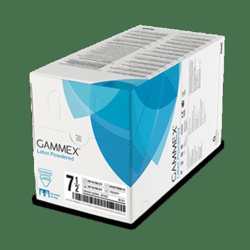 Gant à usage unique chirurgie stérile Gammex latex blanc poudré taille 6,5 photo du produit Back View L