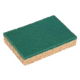 Tampon abrasif vert sur éponge 13 x 8,4 cm photo du produit