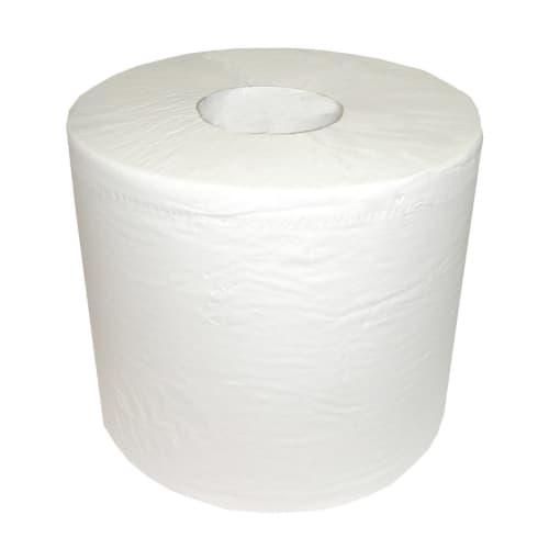 Bobine d essuyage blanche 2 plis 800 formats 21 x 30 cm certifié Ecolabel photo du produit