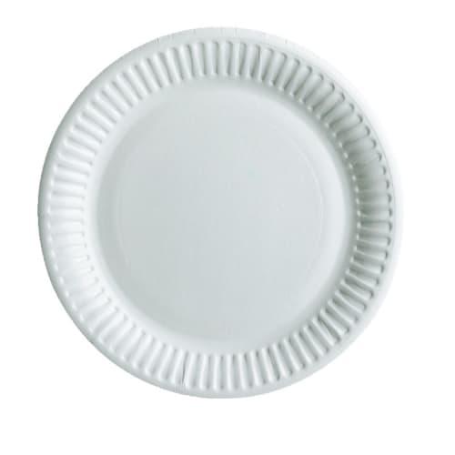 Assiette carton ronde Ø230mm blanc photo du produit