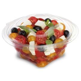 Bol salade à couvercle charnière déchirable 500 cc cristal photo du produit