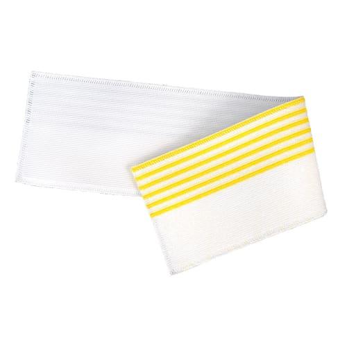 Bandeau de lavage Ultimate 3D Infinite blanc/jaune 11,5 x 50 cm photo du produit
