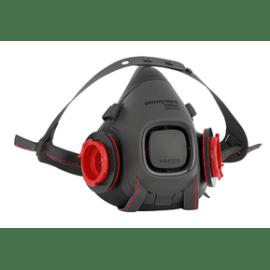 Demi-masque de protection anti-gaz HM501 Honeywell taille M système cartouche Click-fit photo du produit