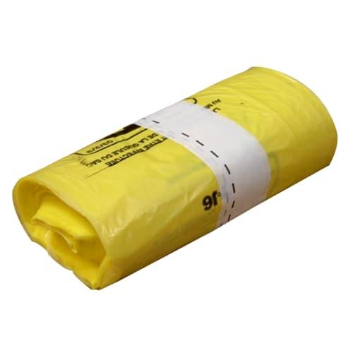 Sac plastique PE BD 50L jaune 22µm NF photo du produit