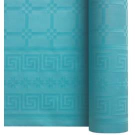 Nappe de table papier damassé 1,20 x 25 m turquoise photo du produit