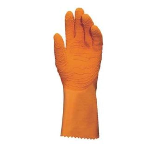 Gant de protection chimique latex support tissu Harpon 321 grip renforcé orange taille 8,5 photo du produit
